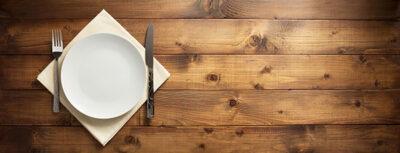 Dinner Plate on Table