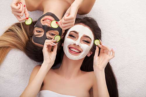 Girls doing facials
